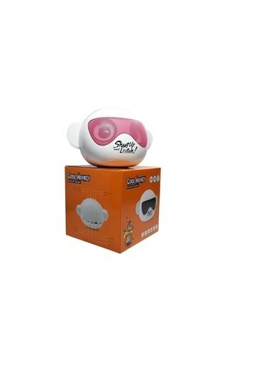 iCutes Cool Monkey Gözlüklü Maymun Pembe Bluetooth Hoparlör USBli-SD kartlı-Radyolu M205 Pembe